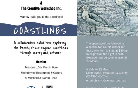 Central Coast Poets & The Creative Workshop Exhibition Opens Tuesday 15th March